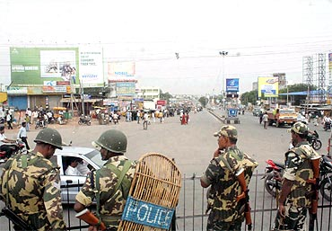 Security beefed up in Hyderabad