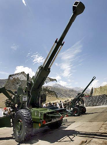 The 55 mm Bofors artillery gun