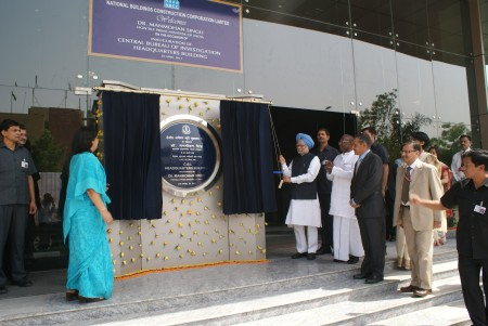 Prime Minister Manmohan Singh inaugurates the new CBI headquarters at Lodhi Road, New Delhi
