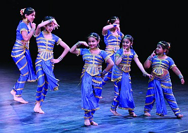 Students perform classical dance