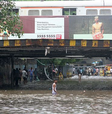 Flooding at the Milan Subway in Santacruz is an annual feature during the monsoons
