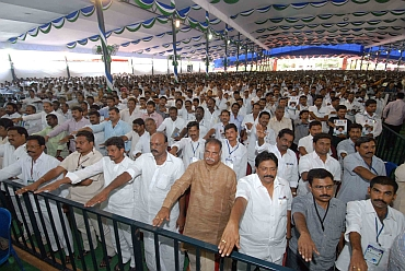 File photo of YSR Congress leaders taking oath