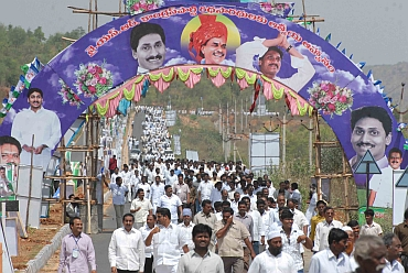 Thousands thronged the plenary to show their support to Jagan