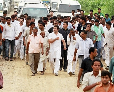 Rahul Gandhi during the padyatra