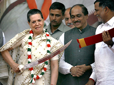 Sonia Gandhi, President of Congress party