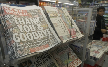 Copies of the final edition of the News of the World