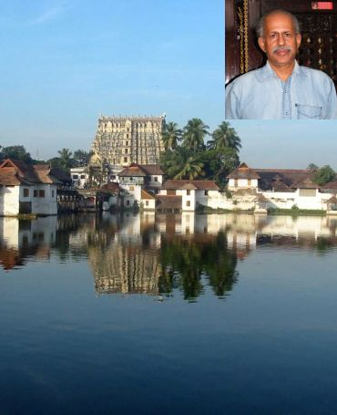 The Sree Padmanabhaswamy temple (inset) M G Sashibhushan