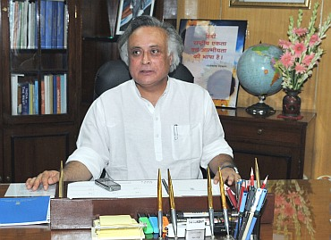 Jairam Ramesh after taking charge as Rural Development minister