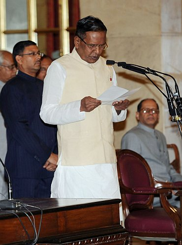 Cabinet Minister for Steel Beni Prasad Verma, at the swearing-in ceremony