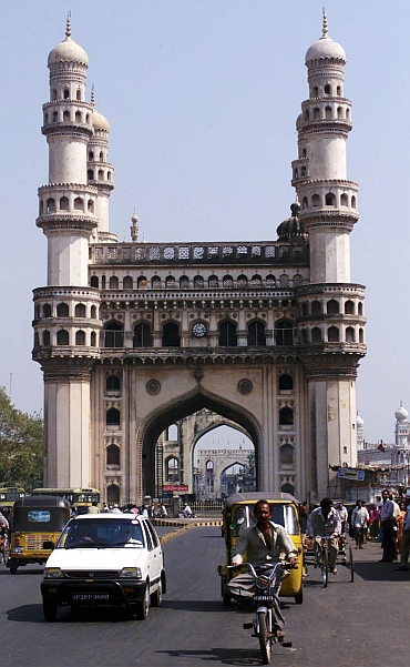 The Charminar in Hyderabad
