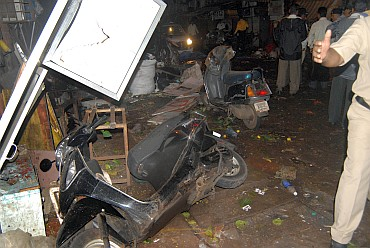 The blast site at Mumbai on July 13