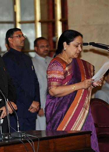Environment Minister Jayanthi Natarajan takes her oath