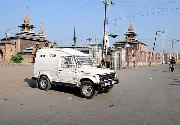Heavy police and CRPF reinforcements in the old city parts of Srinagar on Wednesday