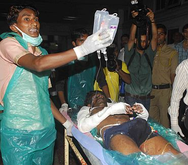 Hospitals struggle to cope with blast victims