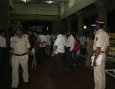 A scene of KEM hospital where the victims of the Dadar blast have been admitted