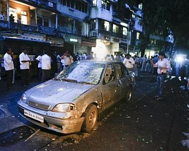 The scene at Dadar, after the blast