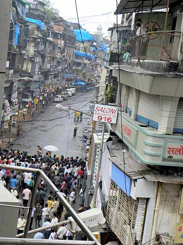 Wednesday's attack was the third blast in Zaveri Bazaar