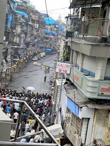 Wednesday's attack was the third blast in Zaveri Bazaar