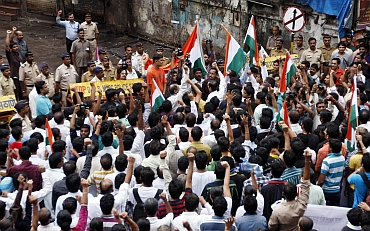 Hundreds of citizens poured onto the streets in Mumbai and New Delhi