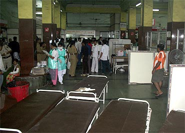 The injured victims at KEM Hospital