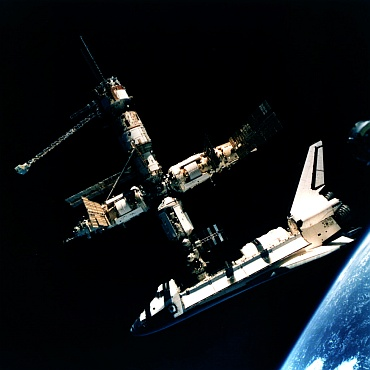 The Shuttle-Mir program helped pave the way for the International Space Station now in orbit.