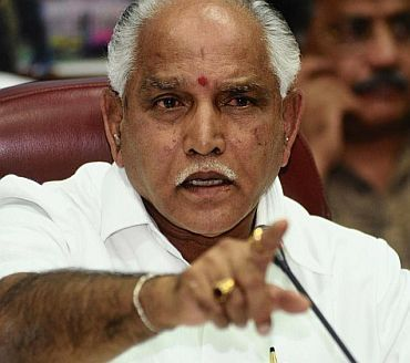 Chief Minister B S Yeddyurappa