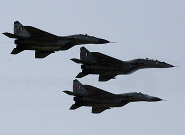 MIG-29 aircraft of the IAF in action