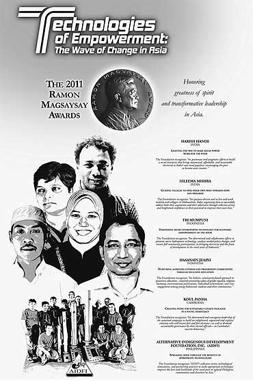 Two Indians were among this years Magasaysay award winners