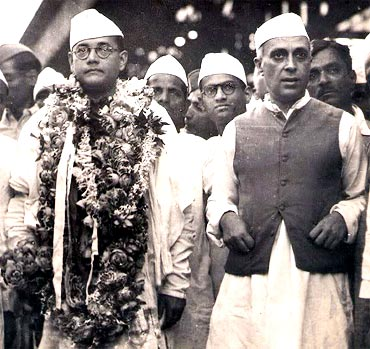 Bose with Pandit Nehru