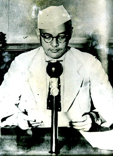 Handout portrait of Subhas Chandra Bose that is on display at the Netaji Research Bureau in Kolkata