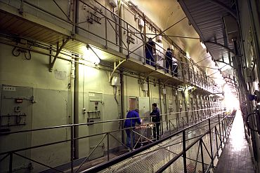 Cells at the La Sante prison in Paris