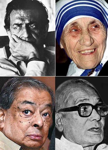 Satyajit Ray, Mother Teresa, Verghese Kurien, Jayaprakash Narayan
