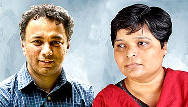 Harish Hande and Nileema Mishra, winners of 2011Magsaysay Award