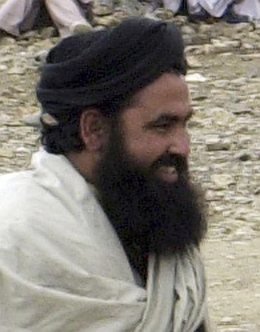 File picture of Pakistani Taliban chief Baitullah Mehsud seen after a meeting with security forces in Waziristan.