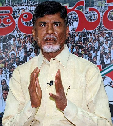 Chandrababu Naidu, president of the Telugu Desam Party