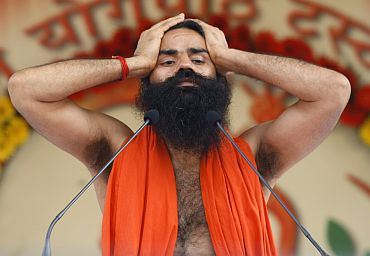 Yoga guru Baba Ramdev's fast entered the fourth day on Tuesday