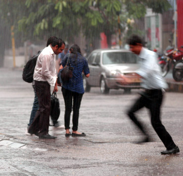 Some Mumbaikars enjoyed the showers as a much-needed relief from the sweltering heat
