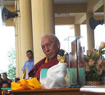 Outgoing Tibetan prime minister Samdhong Rinpoche