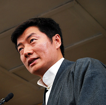 The elected prime minister of the Tibet's government-in-exile, Lobsang Sangay