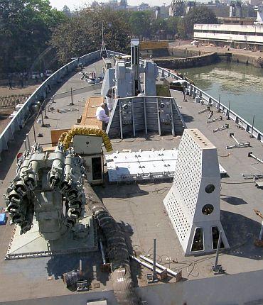 An Indian naval ship