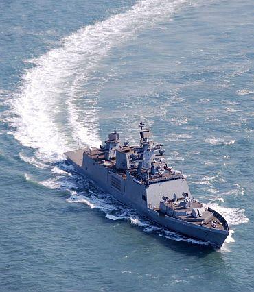 A Shivalik class frigate