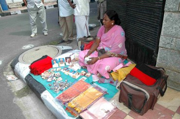 There were no takers at this stall selling DMK paraphernalia