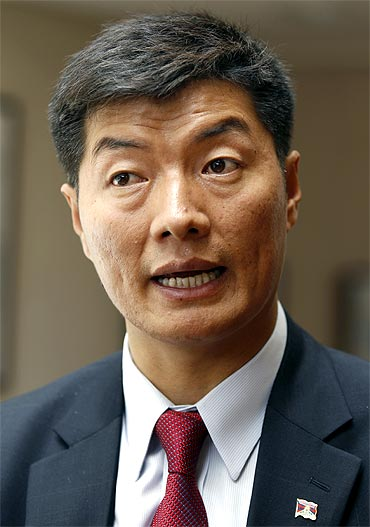 Lobsang Sangay, the new Kalon Tripa, or Tibetan prime minister in exile