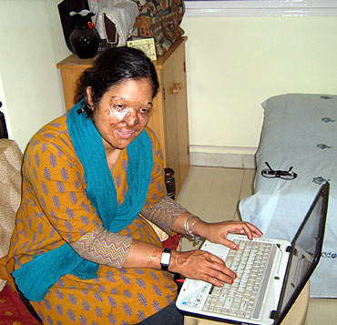Shirin in her Mumbai home