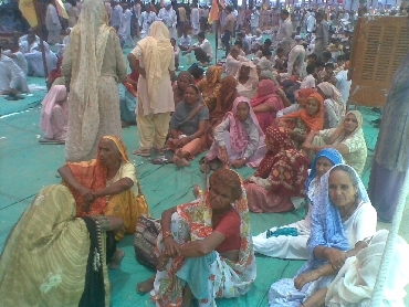 30 housewives from Haryana were camping at the ground since Friday night