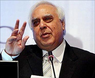 Union  HRD Minister Kapil Sibal