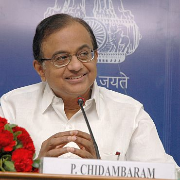 Home Minister P Chidambaram