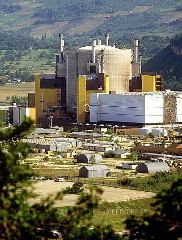 France's Superphenix fast-breeder nuclear reactor, seen in this undated file photo
