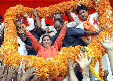 A file photo of Uma Bharti