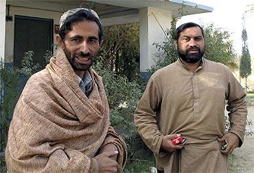 A file photo of Pakistani journalists Syed Saleem Shahzad (Right) and Qamar Yousafzai